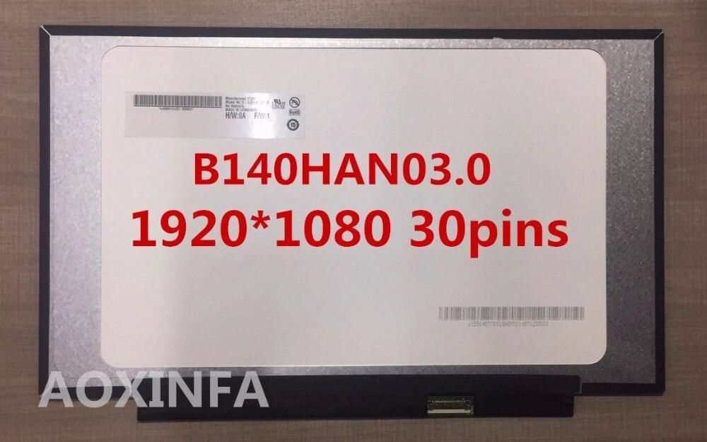For Lenovo Xiaoxin 14 NV140FHM-N62 NV140FHM-N61 NV140FHM-N3B LP140WF7 N140HCA B140HAN03.0 saniter notebook lcd screen nv140fhm n62 n61 n3b lp140wf7 spc1 n140hca eba 14 inch laptop screen