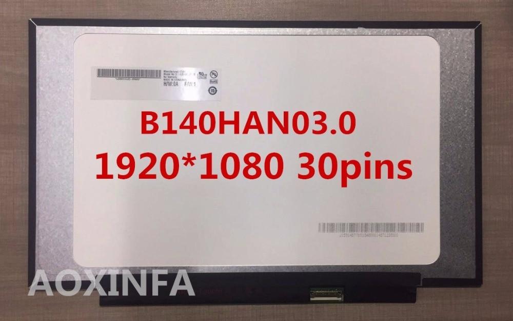 For Xiaoxin 14 NV140FHM-N62 NV140FHM-N61 NV140FHM-N3B LP140WF7 N140HCA B140HAN03.0 saniter notebook lcd screen nv140fhm n62 n61 n3b lp140wf7 spc1 n140hca eba 14 inch laptop screen