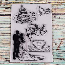 Wedding love couple transparent clear stamp for DIY Scrapbooking/Card Making/Kids Christmas Fun Decoration Supplies(China)