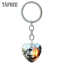 TAFREE Famous Universal Studios Hollywood Keychains Exquisite Heart Pendant Key Chain Keyring Man Women Scenery Jewelry FA181(China)