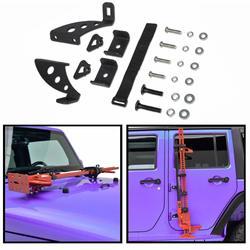 Chuang Qian стальной Hi Lift Jack крепление на капот петля для задней двери набор для 2007-2019 Jeep Wrangler JK JKU JL JLU