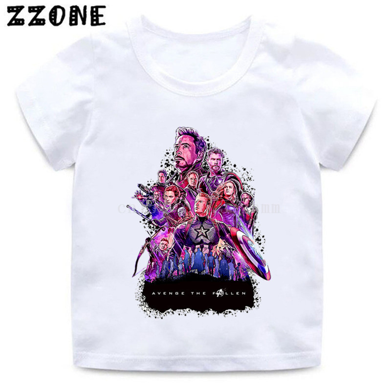 84d129b20 Boys/Girls Avengers 4 Endgame Marvel Print T shirt Kids Funny Casual  Clothes Children Summer