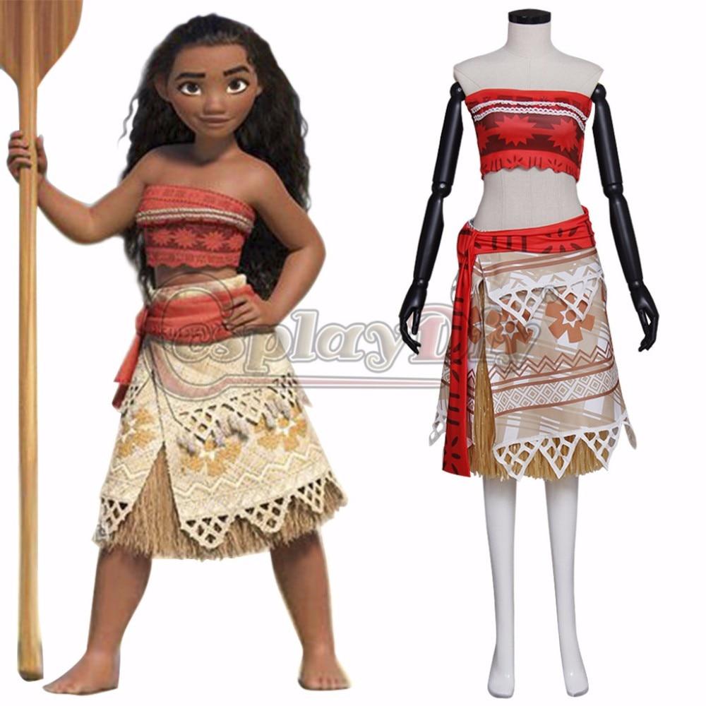CosplayDiy Women\'s Dress New Arrival Moana Dress Princess Cosplay-in ...