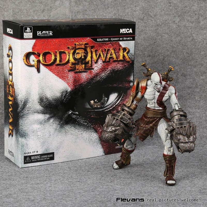 NECA dios de la guerra 3 fantasma de Esparta Kratos PVC figura de acción juguete modelo coleccionable 22 cm