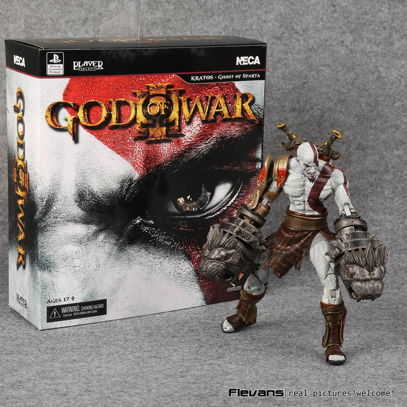 NECA God of War 3 Ghost of Sparta Kratos Action PVC Figure Da Collezione Toy Model 22 cm