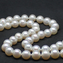 women gift 17INCH GOLD CLASP flawless light AAAA 11-11.5mm Natural south sea genuine WHITE round pearl necklace