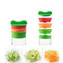Manual Vegetable Cutter Spiral Slicer Cucumber Cutters Grater With 3 Blades for Slicing Kitchen Accessory