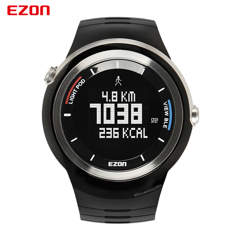 EZON S2 Bluetooth Watch Smart Sports Digital Watch Running Pedometer Waterproof Multifunctional Wrist Watch for Mobile Phone ezon outdoor sports for smart gps watches running male multifunctional 5atm waterproof electronic watch g1 black