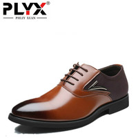 PHLIY XUAN New 2018 Fashion Men Wedding Shoes Luxury Brand Pointed Toe Dress Shoes Oxfords For