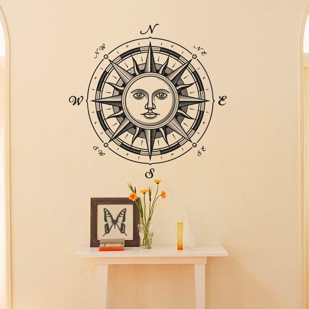 Wandtattoo Seekompass Rose Ethnische Sun Symbol Wand dekor Fenster ...