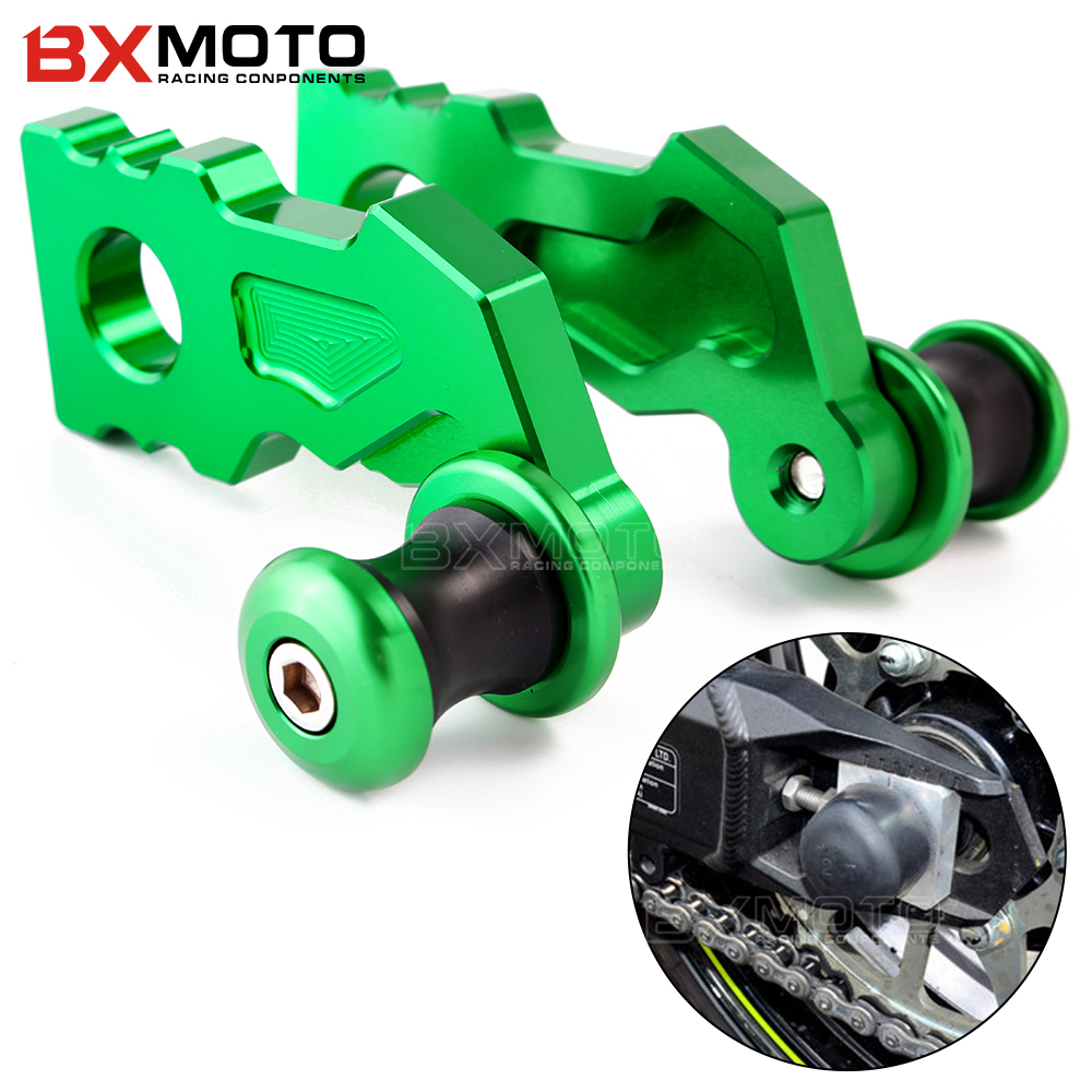For <font><b>Kawasaki</b></font> Z900 <font><b>Z</b></font> <font><b>900</b></font> <font><b>2017</b></font> 2018 2019 Frame sliders Motorcycle Rear Axle Spindle Chain Adjuster Blocks with Spool Sliders image