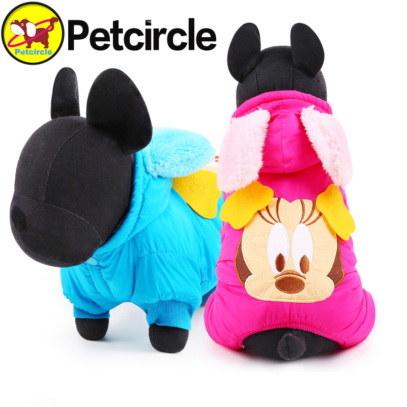 petcircle 2017 new arrivals pet dog clothes Mickey Mouse dog winter coats dog coat for small and large dogs pet costumes winter
