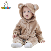 Newborn Carters Coral Fleece Long Sleeve Hooded Romper, Baby Girls Boys Jumpsuit Autumn&Winter Toddle Clothing  JY018