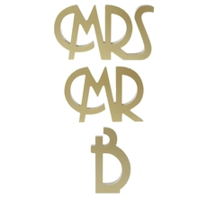 Mr And Mrs Letters Sign Wooden Standing Top Sweetheart Table Wedding Party Decor