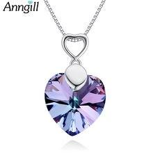 Женские ожерелья с кристаллами anngill от swarovski love heart