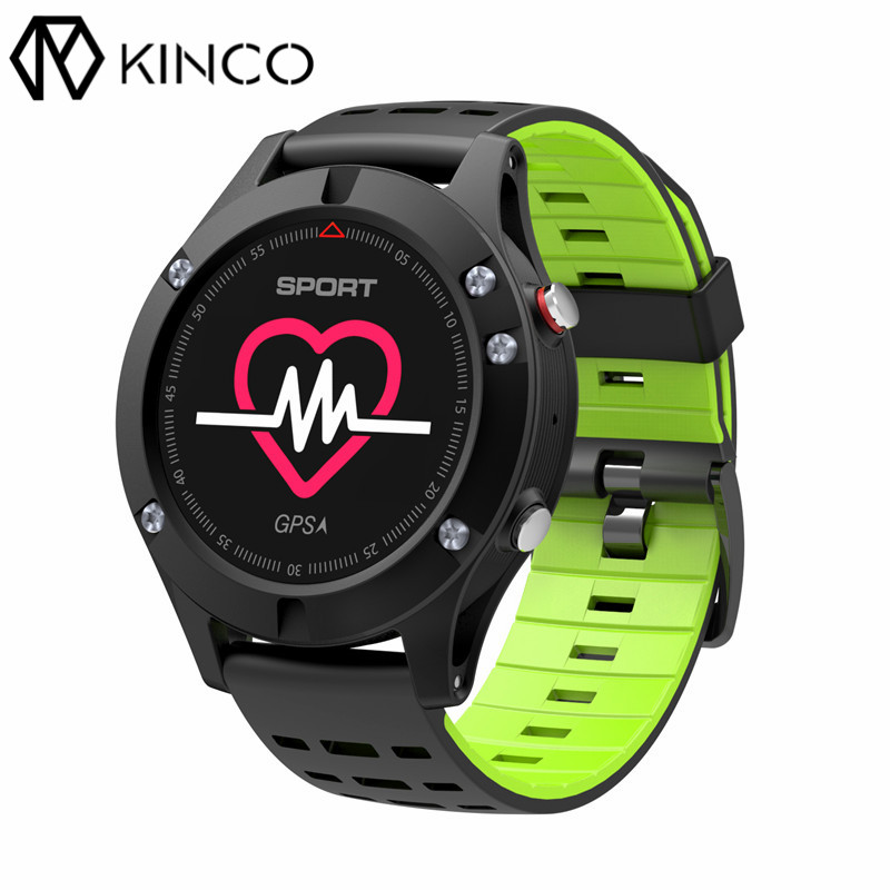 KINCO Bluetooth OLED Real-time Heart Rate Sleep Monitor GPS Multi-Sport Mode Outdoor Altimeter Smart Watch for IOS/Android smart baby watch q60s детские часы с gps голубые