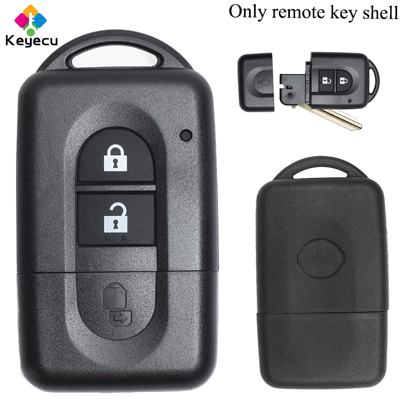 KEYECU Replacement Uncut Flip Remote Control Car Key Shell Case - 2 Buttons -FOB For Nissan Micra Xtrail Qashqai Note Pathfinder
