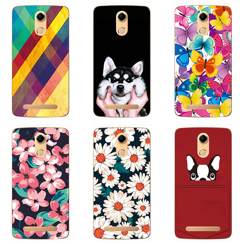 Soft Silicon phone case cover For Doogee <font><b>Homtom</b></font> HT17 phone shell design Painted Soft TPU For <font><b>Homtom</b></font> <font><b>HT17pro</b></font> case shell Flower image