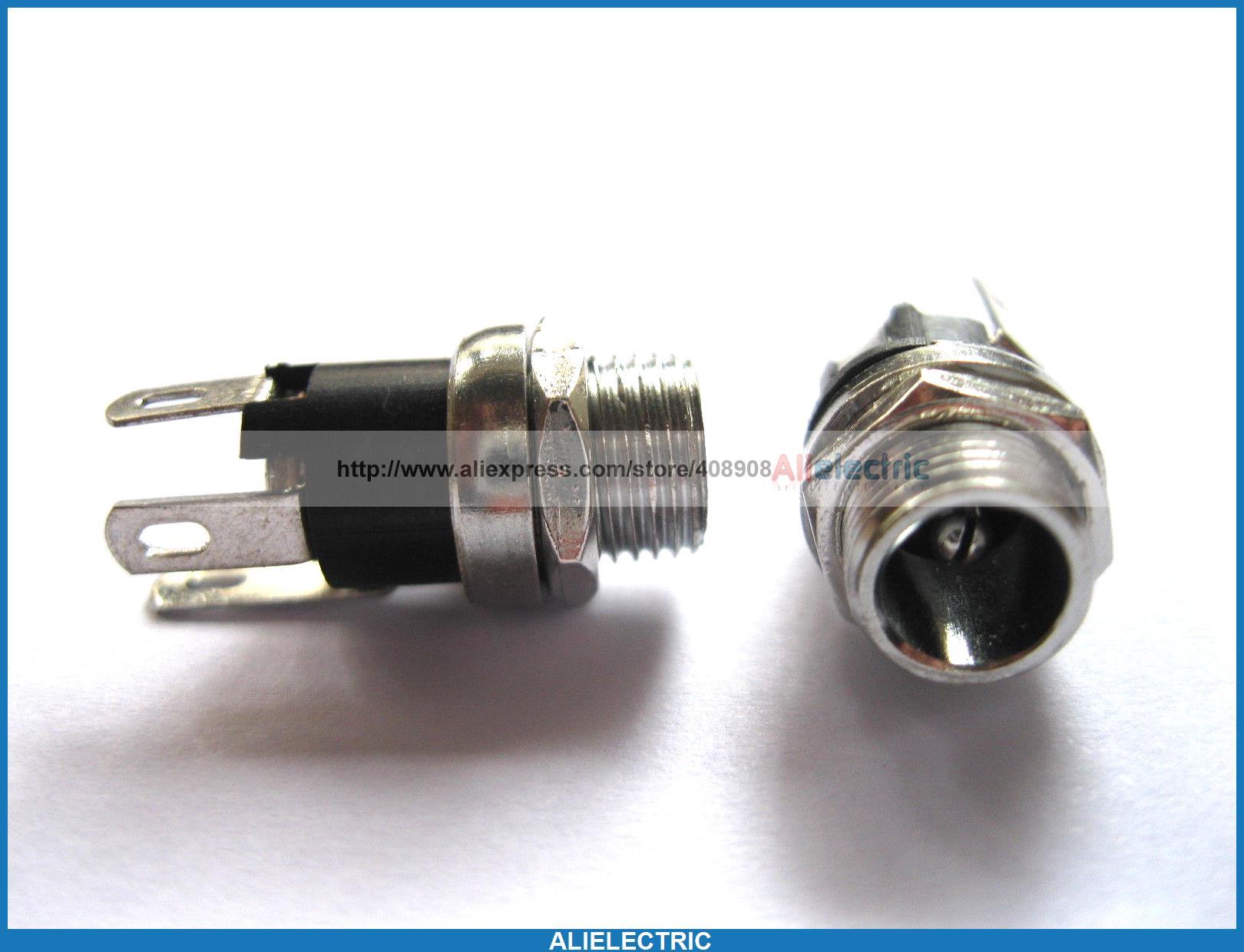 100 pièces prise d'alimentation cc Type de vis broche 2 0mm DC025 L 21mm