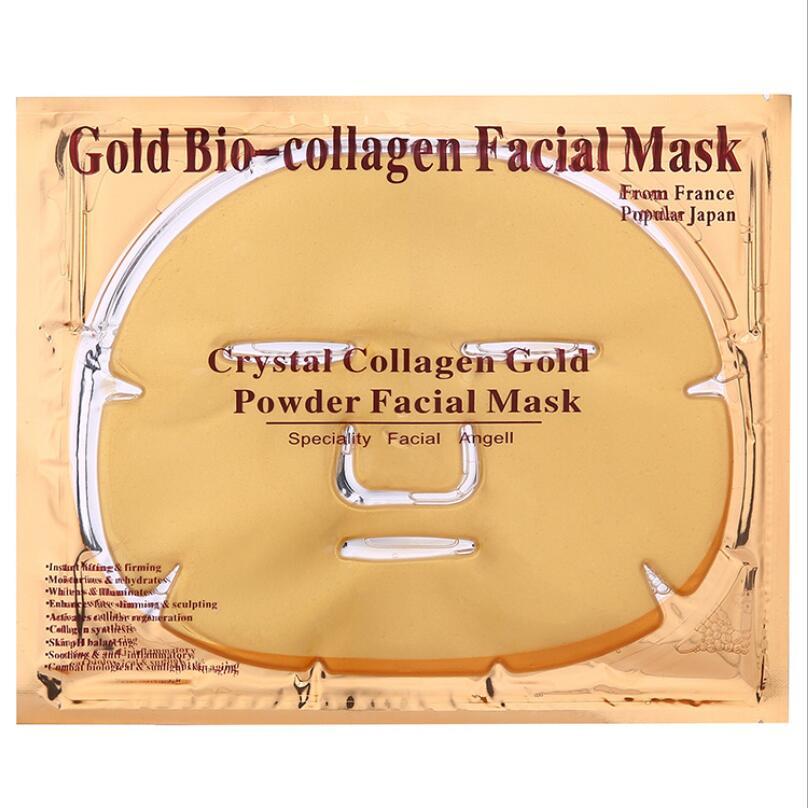 5pcs Beauty Skin Care Sheet Mask Gold Collagen Face Mask Whitening Moisturizing Anti Aging Facial Mask lot Facial mask