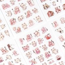 6 pcs/lot cat sticker DIY decoration diary album stickers scrapbooking planner label  stationery