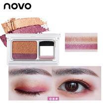 NOVO Lazy Eyeshadow Korean Style Cosmetics Matte Shimmer Eye Shadow Stamp Palett