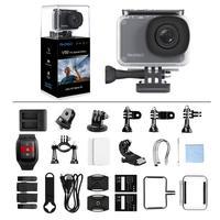 2019 AKASO оригинальный V50 Pro SE 4 K 60fps действие Камера встроенный оперативная память 4 Гб DDR 2 дюймов сенсорный экран Экран 20MP подводная спортивная ...