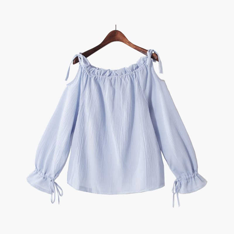 Fashion Chiffon White Blouse Women Tops Vintage Off Shoulder Blouses Yellow Summer Korean Elegant Street Pink Sweet Chic Shirt