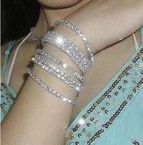 $10 (mix order) Free Shipping 2016 New Fashion Vintage Noble Exquisite Rhinestone Shining Bracelet Woman B119 Jewelry