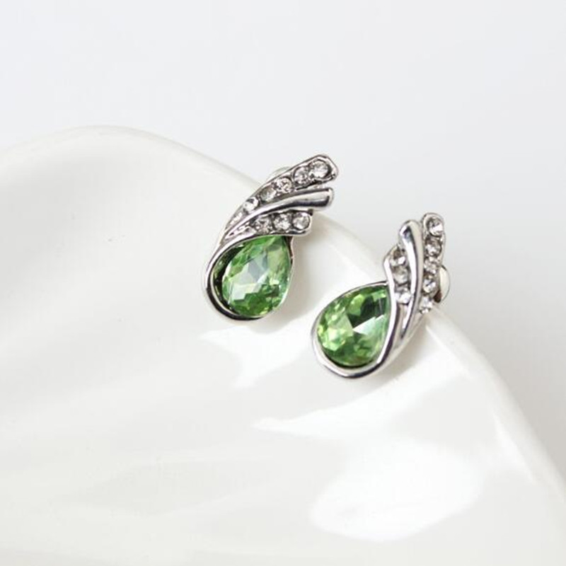 Gifts Sales Luxury Design New Fashion Silver Filled Colorful Crystal Drop Jewelry for Women