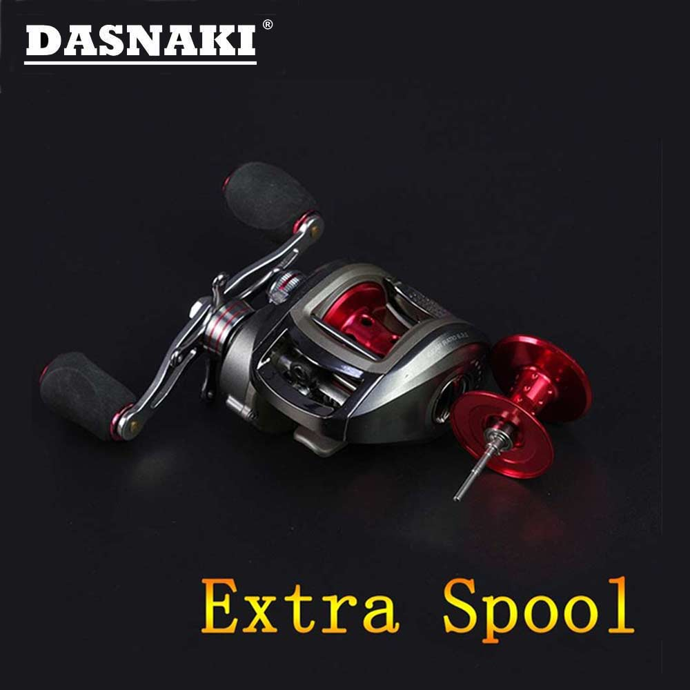 DASNAKI Extra spool Bait casting fishing reel Centrifugal & Magnetic brake Systems carretilha de pesca molinete casting para fishing reel ryobi aquila z bait casting reel 9 1 ball bearings cheap fishing in stock molinete pesca free shipping