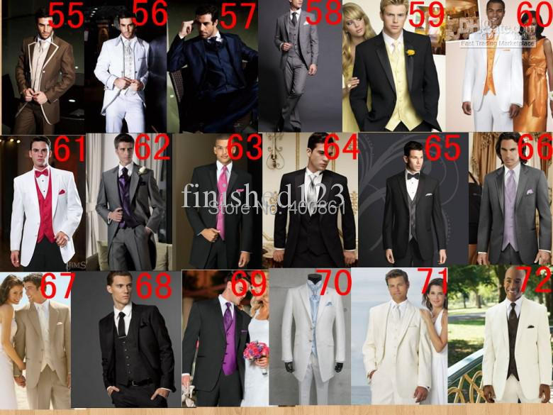 Pure White Groom Tuxedos Suit Groomsman Formal Prom Dresses Business ...