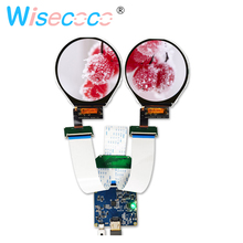 3.4 inch ips round LCD display 800*800 screen with hdmi to mipi controller board for smart watch monitor