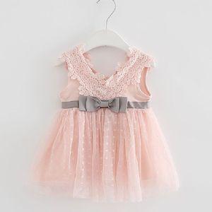 Image 1 - Varejo verão recém nascido com decote em v laço princesa vestido infantil bebê meninas vestido mel roupas de bebê vestido de bebê