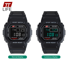 Watches - Couple Watches - TTLIFE Brand Watch Men G Style Square Waterproof Sports Digital Military Watches Shock Resistant Relogio Masculino For Running