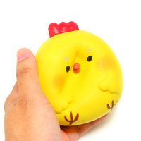 Squishy Funny Jumbo Yellow Chick Chicken Baby Squishy Slow Rising Scented Squishies Wholesale Soft Kitchen Toys