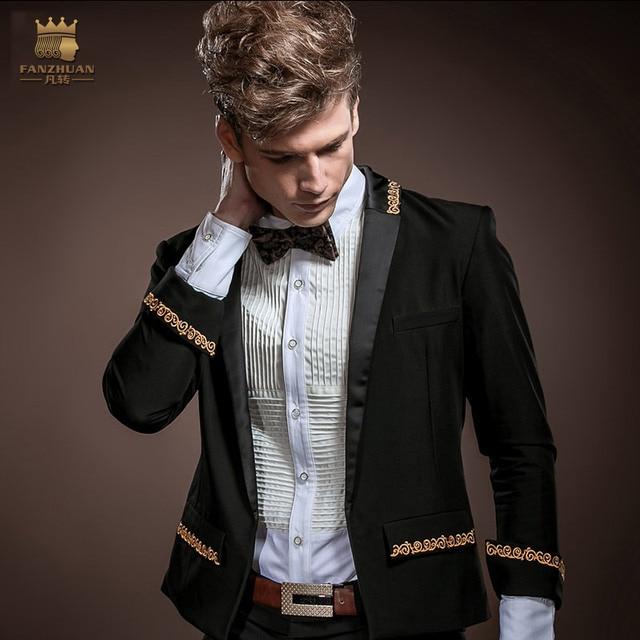 FANZHUAN Gothic Clothing Men Slim Fit Blazers New Arrival Fashion ...