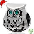 Wise Owl Bead Charms Original 100% Authentic 925 Sterling Silver Animals Beads fits Pandora Charms bracelets & Necklaces