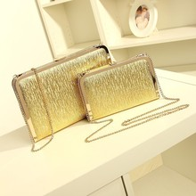 Kople Fashion Women Evening Party Bags Bling Gold Silver Shimmering Large Small Day Clutch Dinner Purse Wedding Bride Bag