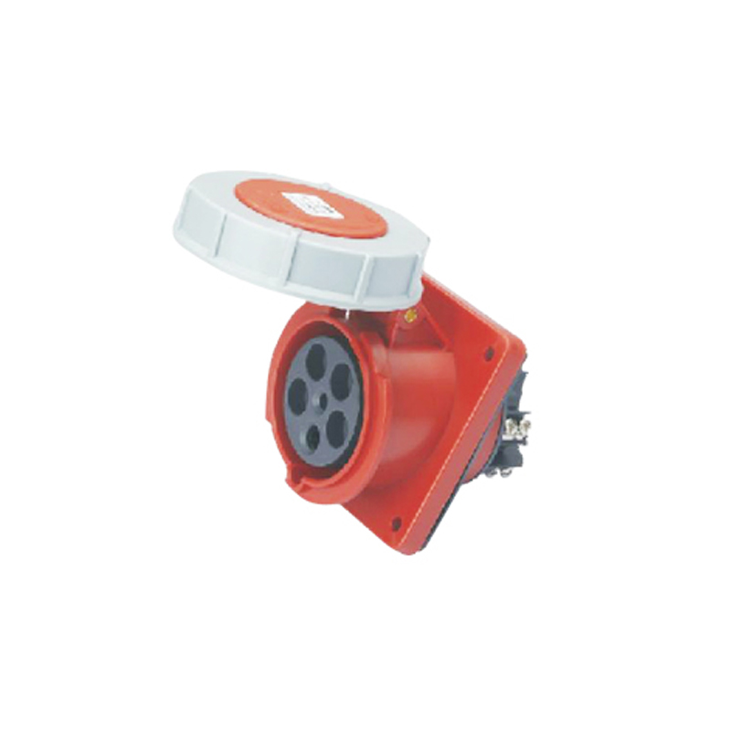 63A 5Pin industrial hide Inclined socket connector SF-435 concealed installation socket ~3P+N+E cable connector IP67  63a 3pin 220 240v industrial waterproof concealed appliance plug waterproof grade ip67 sf 633