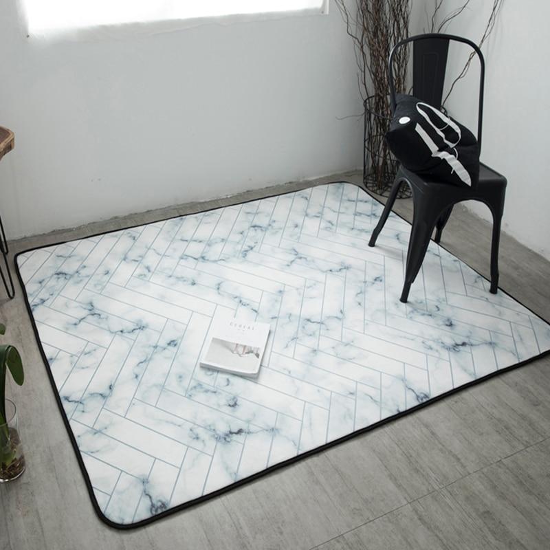 marmor boden matten mode gedruckt bad kche den rand der das bett matte teppiche fumatten lesen matte fr wohnzimmer zimmer - Marmorboden Wohnzimmer