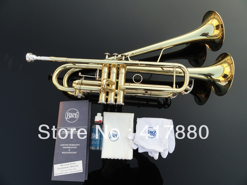 Wholesale - small Bb trumpet adjustable double Horn on the surface of gold цена