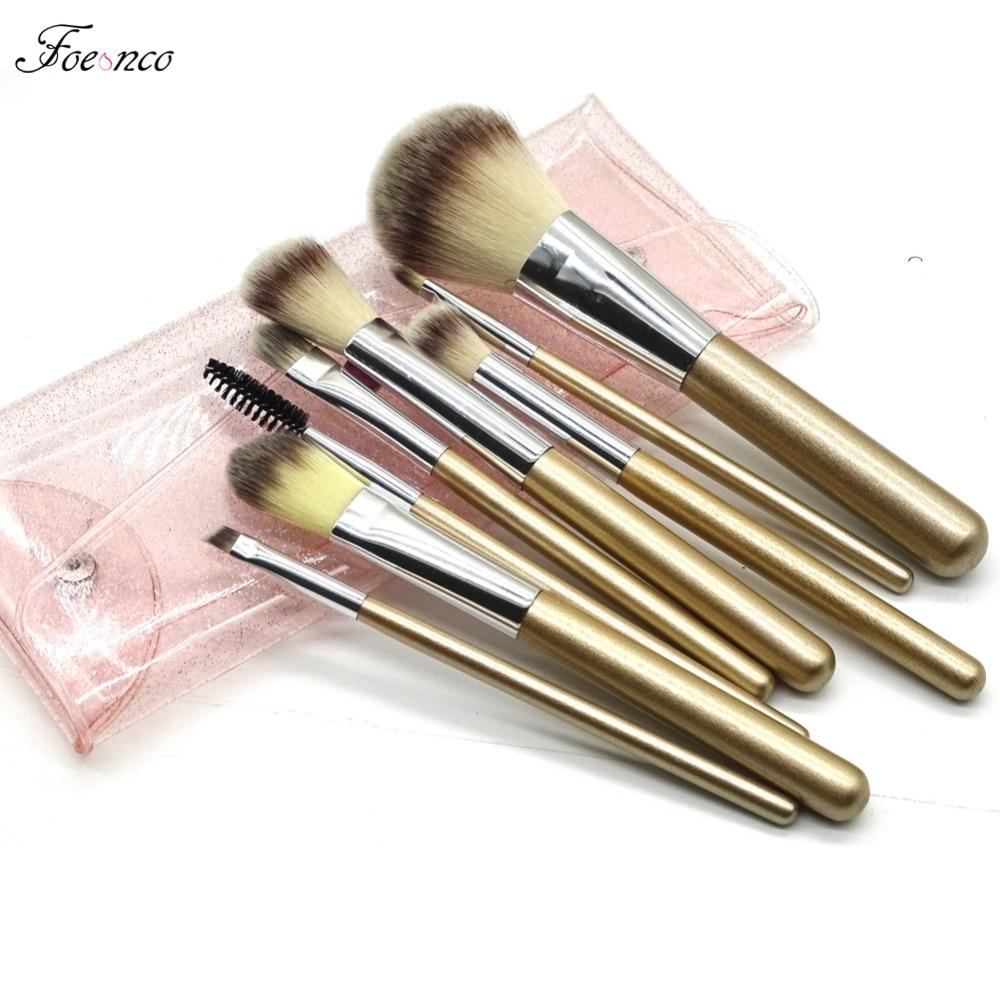 8pcs Glitter Handle Makeup Brushes Foundation Eye Shadow Eyeliner Lip Make Up Brushes Set Kits With Cosmetics Brush Bag