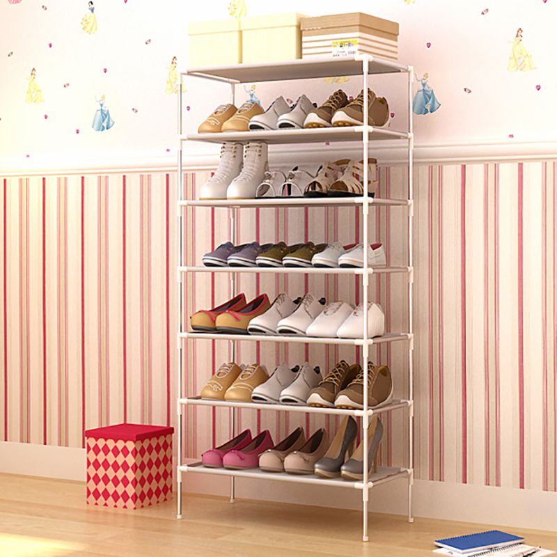 Shoe Organizers Shoes Rack Assembled Multiple Layers Shoemaker Stand For Footwear Shoe Storage Holder Non-woven Fabric Cabinet