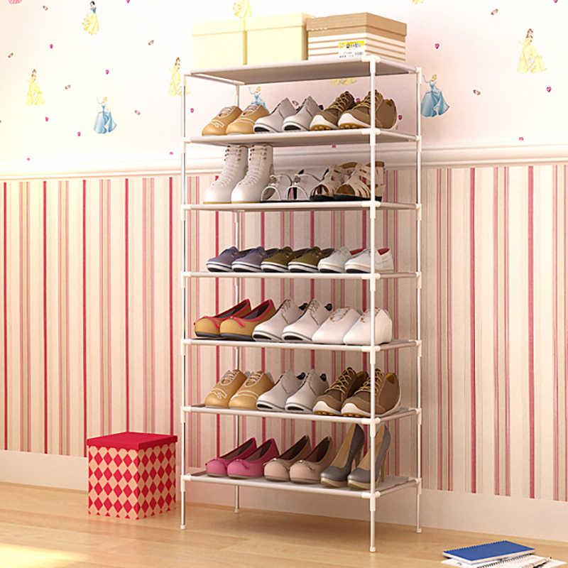 Organizer na obuwie stojak na buty zmontowany wielowarstwowy stojak na obuwie półka na półkę do przechowywania obuwia szafka z włókniny