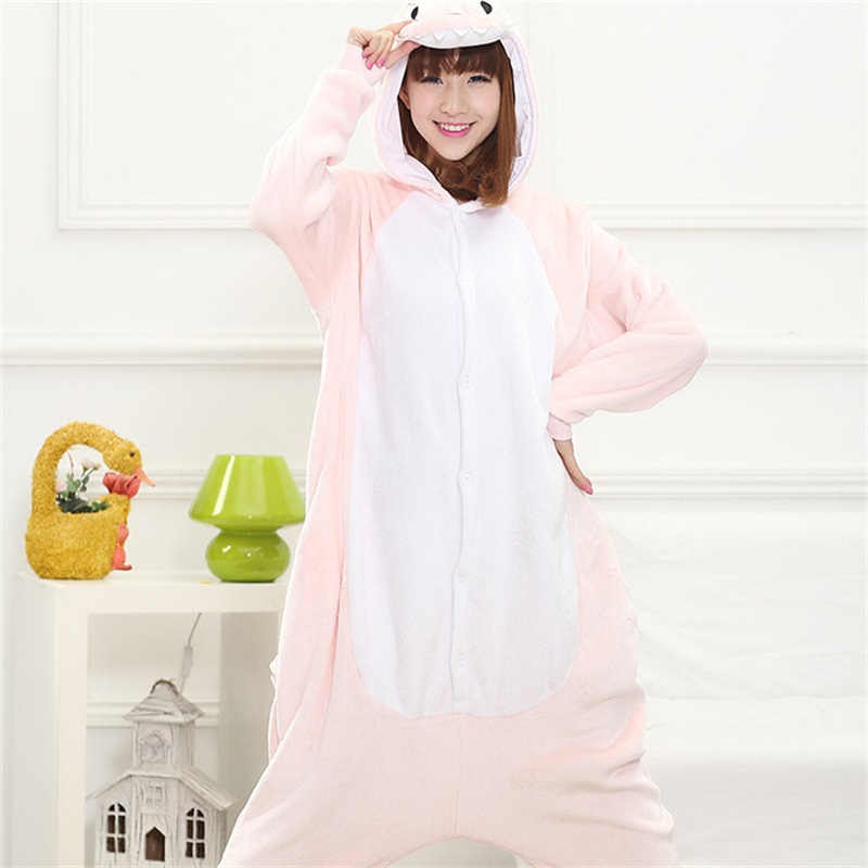 Animal Dinosaur Kigurumi Onesie Adult Teenagers Women Pijama Funny Flannel Warm Soft Sleepwear Overall Onepiece Jumpsuit
