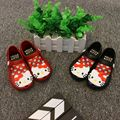 YNB Children Baby Jelly Shoes for Girls Mini Melissa Sandals Kids Kitty Cat Shoes for Girls Close Tole Sandals for Kids PVC Shoe