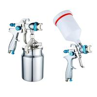 Paint Spray Gun, Upper Pot Paint Spray Gun, 1.4 / 1.7 /2mm High Atomizing Pneumatic Spray Car Furniture Paint Gun Spray Tools