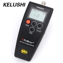 KELUSHI Fiber Optical Power Meter APM820-70 ~ + $ number db 6 de longitud de Onda 2.5mm Universal FC/SC/ST/LC Cable Tester Herramienta Utilizada en FTTX/FTTH