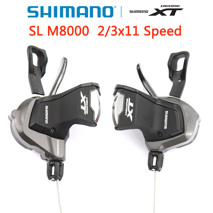 SHIMANO Deore XT SL M8000 levier de vitesse Rapidfire Plus leviers de changement de vitesse VTT manette de vitesse 2x11 3x11 vitesse